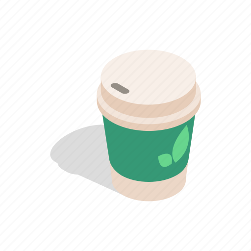 cafe, coffee, cup, drink, isometric, paper, tea icon