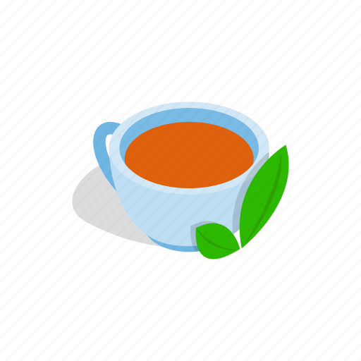 beverage, ceramic, cup, drink, isometric, porcelain, tea icon