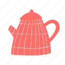 kettle, pot, red, tea, teakettle, teapot icon