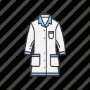 clothes, coat, experiment, lab gown, laboratory, science, uniform icon