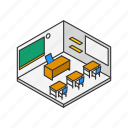 classroom, educational, office, room, school, teacher's office icon