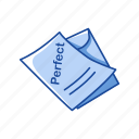 card, educational, paper, report card, score, test result icon