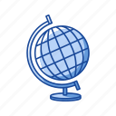 geography, globe, map, science, world wide map icon