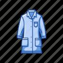 clothes, coat, educational, experiment, lab coat, laboratory uniform, uniform icon