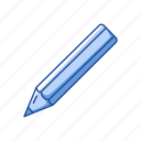 create, draw, education, office education, pencil, school supply, write icon