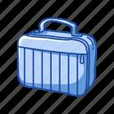 bag, box, education, food, lunch box, office supply, school supply icon