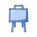 board, chalk board, education, green board, school supply icon