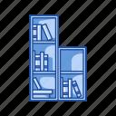 book shelve, books, education, library, school supply, shelve, teacher supply icon