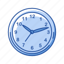 clock, date, education supply, office supply, teacher supply, time, watch icon