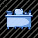 faculty, faculty room, furniture, office, teacher's table icon