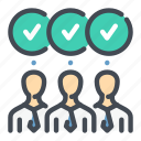 approved, done, jure, person, team, vote, workflow icon