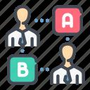 answer, decision, opinion, team, vote, workflow icon