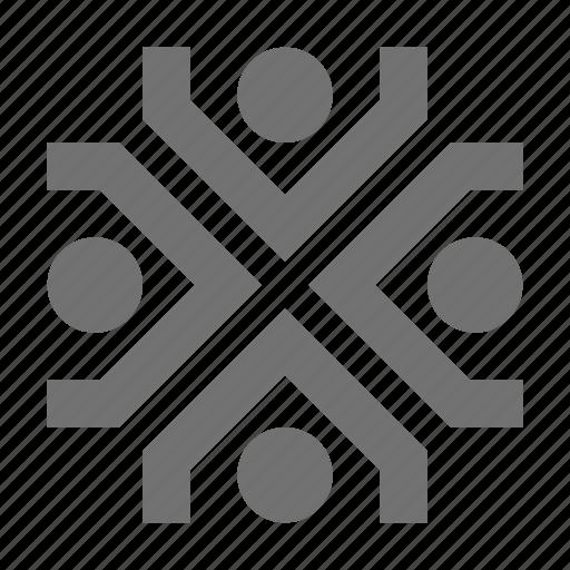 collaboration, management, organization structure, staff, workforce icon