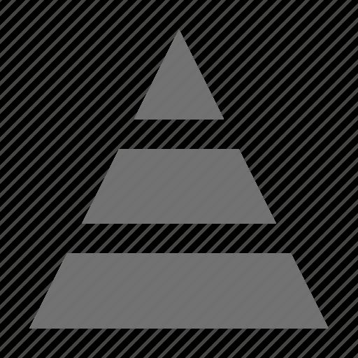 analytics, diagram, pyramid, stock, triangle icon