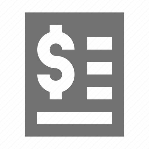 agreement, bank statement, business contract, financial report, financial statement icon