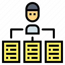 management, planning, strategy, tactics icon