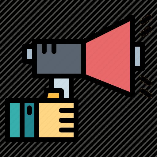 bullhorn, loudspeaker, megaphone, promotion icon