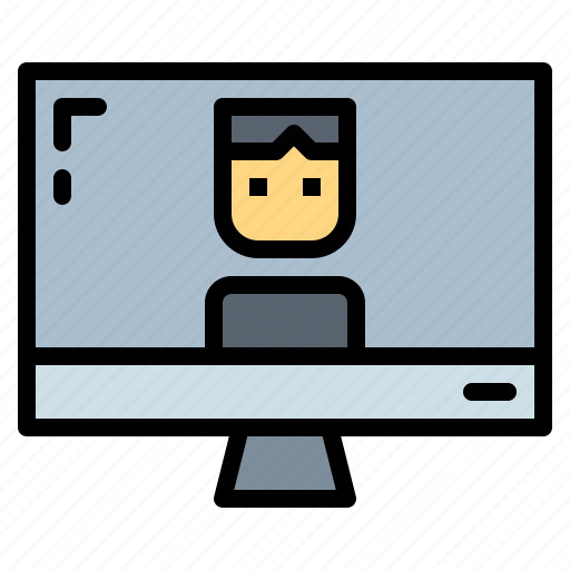 communications, conference, video, videocall icon