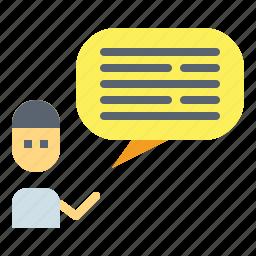 bubble, chat, communication, conversation, speech icon