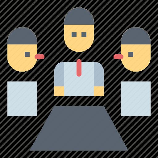 boss, business, job, meeting icon