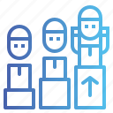 group, growth, leader, people, person, team icon