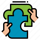 collaboration, participation, partnership, teamwork icon