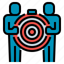 business, goal, mission, people, target icon
