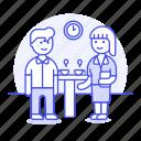 teamwork, discussion, conversation, break, coffee, meeting, communication
