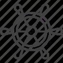 handle, helm, ship, wheel icon