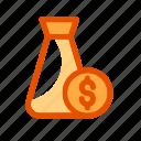 coin, dollar, money, organization icon, profit, teamwork icon icon
