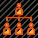hierarchy, organization icon, structure, teamwork icon, user icon