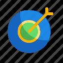 arrow, organization icon, target, teamwork icon icon