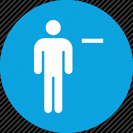 negative, subtract, team, user icon