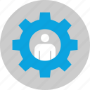gear, options, workforce, working icon