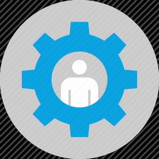 gear, options, workforce, working icon