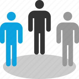 man, online, people, team icon