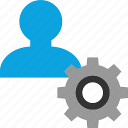 gear, person, user, working icon