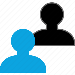 online, person, two, users icon