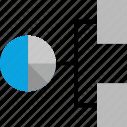 anaylytics, connect, data, team icon
