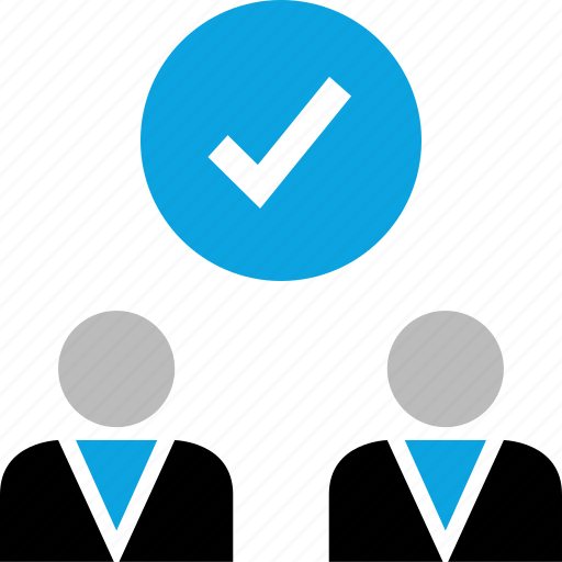 check mark, group, team, users icon
