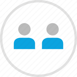 group, team, teamwork, two users icon