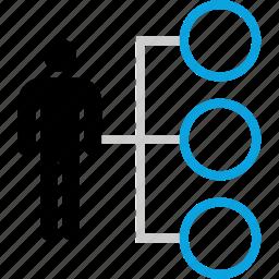connect, data, persona, user icon