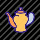 boiling, coffee, household, porcelain, teapot, tool, utensil icon