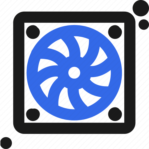 computer, cooler, fan icon