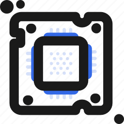chip, computer, micro icon