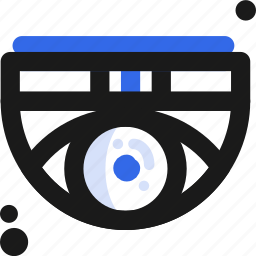 eye, matrix, tech icon