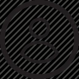 account, avatar, circle, male, man, people, profile icon