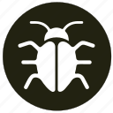 bugs, error, faults, spider, virus icon