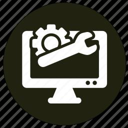 communication, computer, monitor, screen icon
