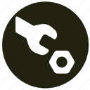 control, options, settings, tools, wrenches icon